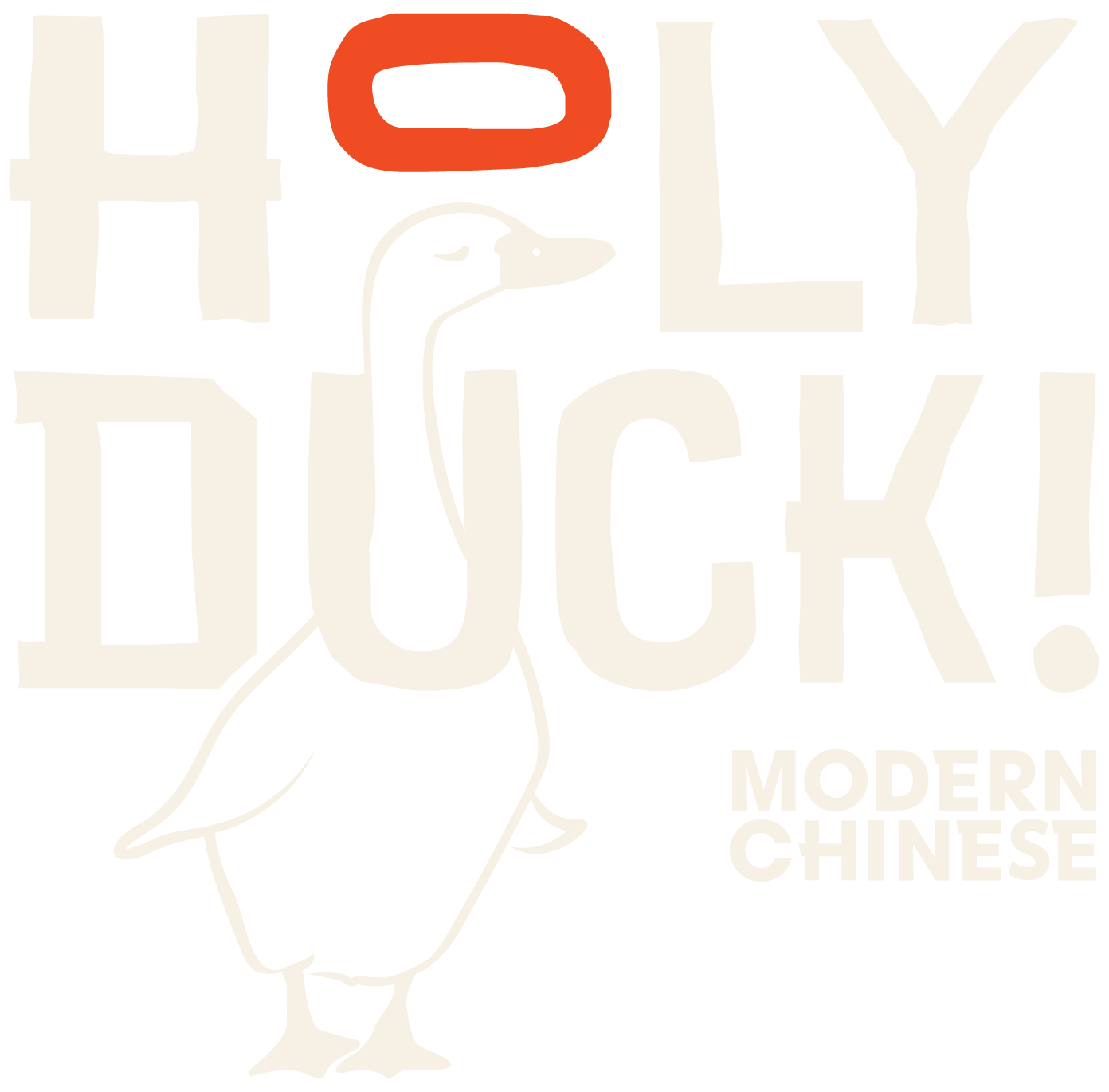 Holy Duck Modern Chinese Logo